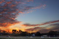 Anoka sunset (Wa-J) Tags: road trees sunset sky minnesota night clouds evening twincities streaks mn