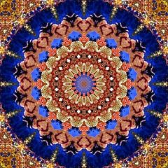 Snowmen & Peppermints (Lyle58) Tags: blue red abstract green geometric circle psp kaleidoscope symmetry zen harmony reflective symmetrical balance paintshoppro circular peppermint kaleidoscopic kaleidoscopes 16sided kaleidoscopesonly 16pointed