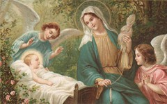 Child Jesus with Mary and Angels