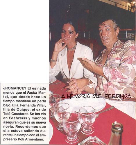 Facha Martel y Fernanda Villar - Febrero 1993