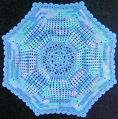 Blue Variegated Doily