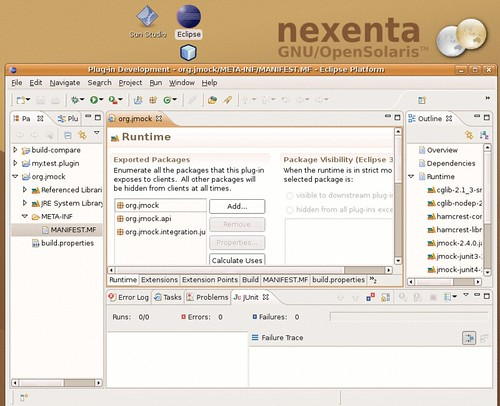 The Europa workbench on nexenta solaris-gtk-x86.