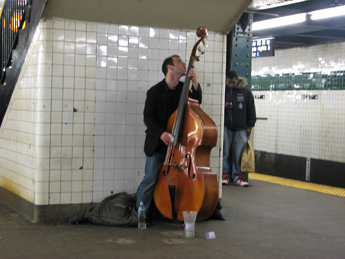 Double Bass on subway