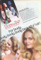 1970's Body on Tap Shampoo (twitchery) Tags: vintage hair shampoo 80s 70s conditioner vintageads vintagebeauty