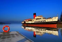 Discovering Scotland (Nicolas Valentin) Tags: blue water scotland boat scenery calm lochlomond maidoftheloch buoyant anawesomeshot colorphotoaward poseidonsdance