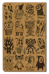 cahier_01B (elfelix) Tags: black moleskine ink drawings monsters dibujos negra tinta monstruos sketchbooks