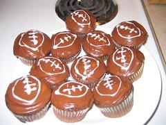 Super Bowl cupcakes I made
