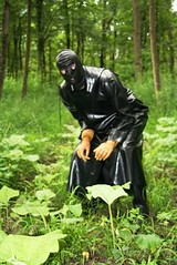 black Mac (lulax40) Tags: rubber latex rainwear mackintosh