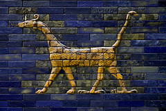 Pergamon Museum - Ishtar Gate _DSC17916 (youngrobv) Tags: berlin brick archaeology museum germany tile deutschland nikon gate europa europe european bricks relief tiles german arabian d200 bel babylon ishtar gettyimages glazed pergamon assyrian babylonian marduk polychrome ishtargate archaeologist nebuchadnezzar museumisland 0802 18200mmf3556gvr polychromed nebuchadnezzarii museeinsel youngrobv   babishtar robertkoldewey dsc17916