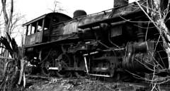 DSC_0208ps (jreidfive) Tags: road old white black abandoned danger yard train lost virginia downtown rail roanoke forgotten engines scrap