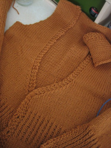080330. the mrs. darcy cardigan is almost done!