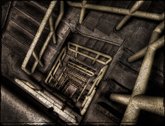 Inside the dam (Nilton Ramos Quoirin) Tags: brazil paran stairs dam stairway paraguay hdr itaipu fozdoiguau ciudaddeleste hdraward