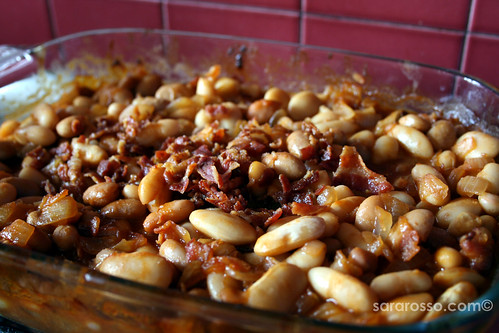 Barbecue Baked Beans with Bacon Recipe out of the Oven