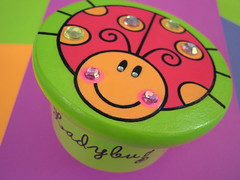 Lucy Ladybug Box (mitsel8) Tags: pink orange box handpainted ladybug breen jewelrybox treasurebox woodenbox