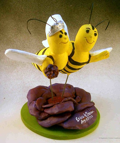 Bee's Wedding Cake Topper