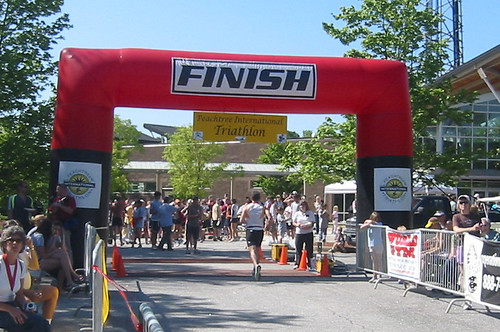 Finish line at the Peachtree International Triathlon. Photo credit to Jennifer Bowie of Screenspace.org