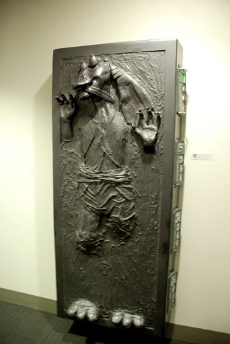Jar Jar in carbonite by thoughtwax.