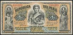 Perú - P 1  - 1 Sol (1879) (NoeCR) Tags: perú repúblicadelperú suramérica sol compañíaamericanadebilletesdebancoabnc lima americanbanknotecompanynewyork papelmoneda notafilia peruvianimages worldpapermoney