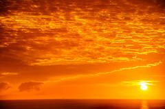 See You in the Western  Sky (Melody Migas) Tags: gulfcoast sunset orangebeach tp15 orange clouds melodymigas sun ocean alabama gulf sky gulfofmexico turquoiseplace yellow sunshine sea
