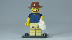 Brick Yourself Custom Lego Figure Aussie Bloke with Coffee
