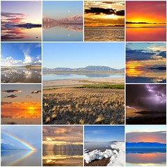 A Few of My Favorite Scenes in 2016 (Great Salt Lake Images) Tags: 2017calendar mosaicmaker bighugelabs antelopeisland greatsaltlake utah