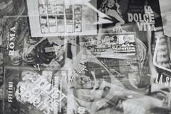 Fellini (goodfella2459) Tags: nikon f4 af nikkor 50mm f14d lens ilford super xp2 400 35mm c41 black white film analog federico fellini giulietta masina dvds collection cinema multiple exposure experimental abstract bwfp milf