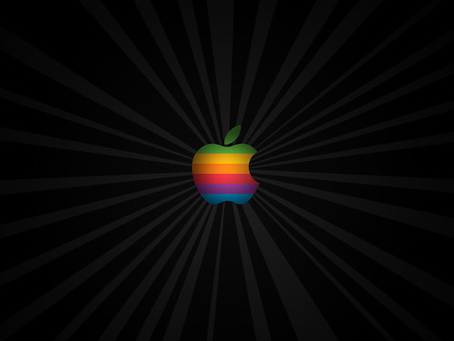 apple logo wallpaper white. Classic Apple Logo Vortex