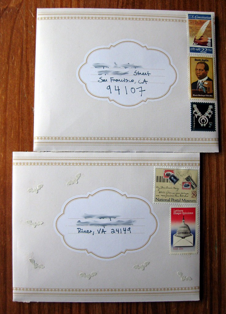 Antiquarian envelopes