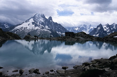 Lac Blanc (ronet) Tags: sky mountain lake france mountains slr film clouds 35mm fuji pentax slide scan scanned chamonix lacblanc pentaxist chamonixmontblanc interestingness126 i500 explore20071012