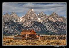 A Majestic Backdrop (James Neeley) Tags: mountains landscape bravo grandtetons tetons hdr grandtetonnationalpark 5xp moultonbarn jamesneeley