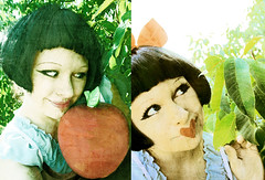 Once a Pomme a Time (boopsie.daisy) Tags: selfportrait love me apple girl strange leaves fairytale weird g