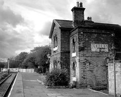 1952? - hadlow road station - wirral - england (~ paddypix ~) Tags: blackandwhite photoshop buildings countryside picasa doorsandwindows moodyblues bwdreams ukandireland iusedpicasa