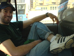 Chillin' in a taxi... tight-rolled