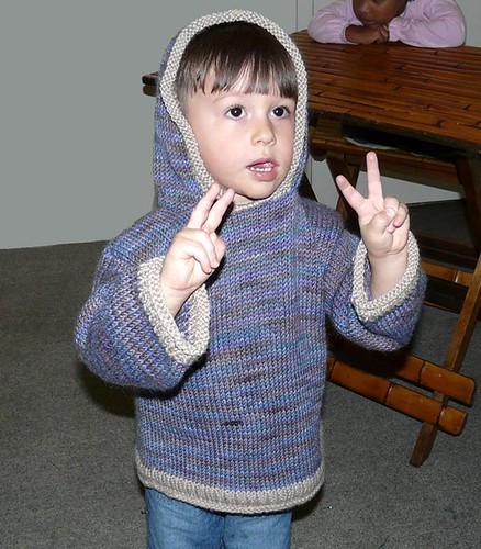 Jack, wearing birthday hoodie
