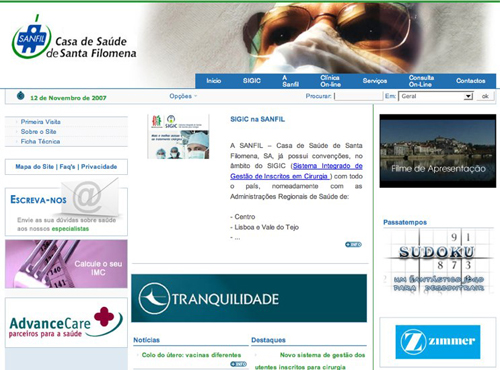 Santa Filomena - website