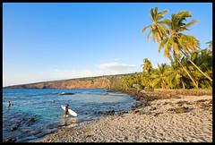 Ke'ei Solitude #2 (konaboy) Tags: beach hawaii surfer surfboard bigisland kona keei 9933b