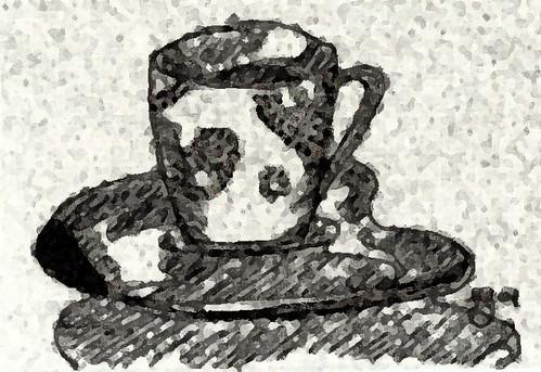 Clara's cup al fresco