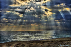 sun's rays 2 (wildandwoolyart) Tags: ocean light water photoshop waves atlanticocean sunsrays 3xp photomatix emeraldislenorthcarolina canonxti400d sandandsky excellentphotographerawards