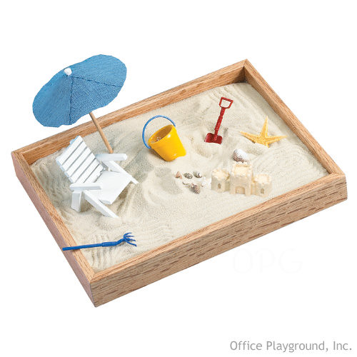 Executive Sandbox - Day at the Beach :  beach executive gifts office desktop