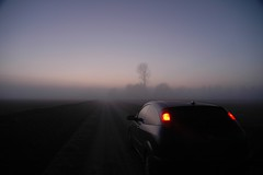 Going to... (Matteo Mossini) Tags: auto winter sunset ford car fog nikon focus tramonto d70 nikkor nebbia inverno macchina soe 1870mm takeabow 35faves 25faves wowiekazowie exquisiteimage