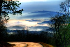 In Morning Light ( D L Ennis) Tags: road morning trees mist mountains misty fog clouds forest foggy valley curve yesterday blueridgeparkway jamesriver inmorninglight specland abigfave anawesomeshot impressedbeauty dlennis diamondclassphotographer ysplix flickrelite 122907
