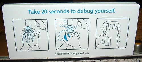 Sign in Apple restroom