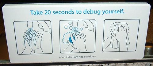 Sign in Apple restroom