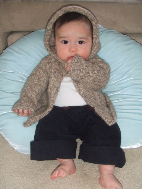 Owen in Hooded Cardigan
