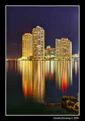 Condo Reflections (Fraggle Red) Tags: night reflections bravo downtown florida miami jpeg soe hdr condominium highrises bayfrontpark brickellkey photomatix canonefs1785mmf456isusm 3exp mywinners abigfave shieldofexcellence anawesomeshot megashot overtheexcellence miamidadeco theperfectphotographer dphdr