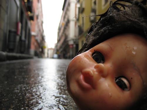Lluvia en la calle Barbieri