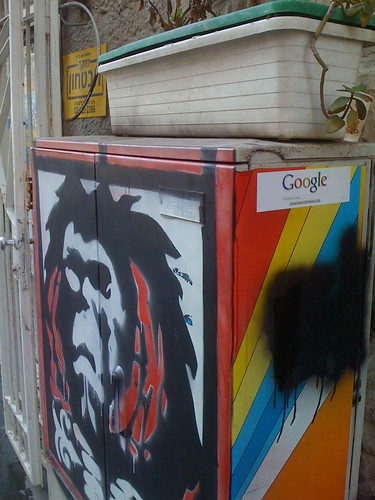 Google Sticker in Israel - Ben Yehuda, Jerusalem