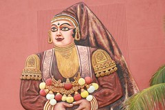 IMG_1119 (Arun Kumar Sinha) Tags: woman india kathakali dancer portrait painting sculpture wall hotel uds arun kumar sinha hazaribagh