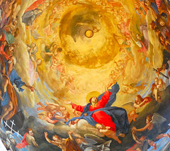 Detail of Assumption (oar_square) Tags: italy church painting cathedral mother kirche pisa tuscany virginmary assumption italians christianthemes goldstaraward oarsquare