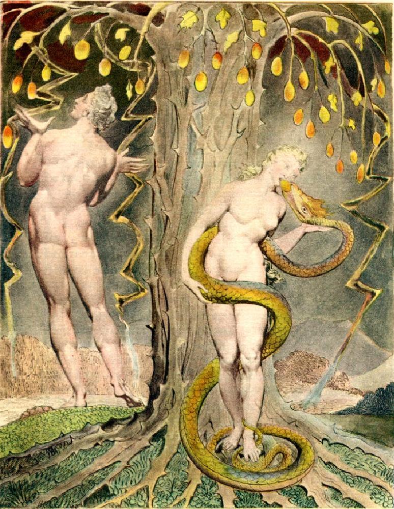 BLAKE William Temptation of Eve 1808
